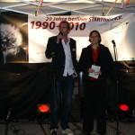 Geschäftsführer Stefan Zenker und Moderatorin Katharina Vetter; Foto: Ines Fischer