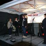 Mitarbeiterinnen der berliner STARThilfe bedanken sich bei Geschäftsführer Stefan Zenker; Foto: Ines Fischer