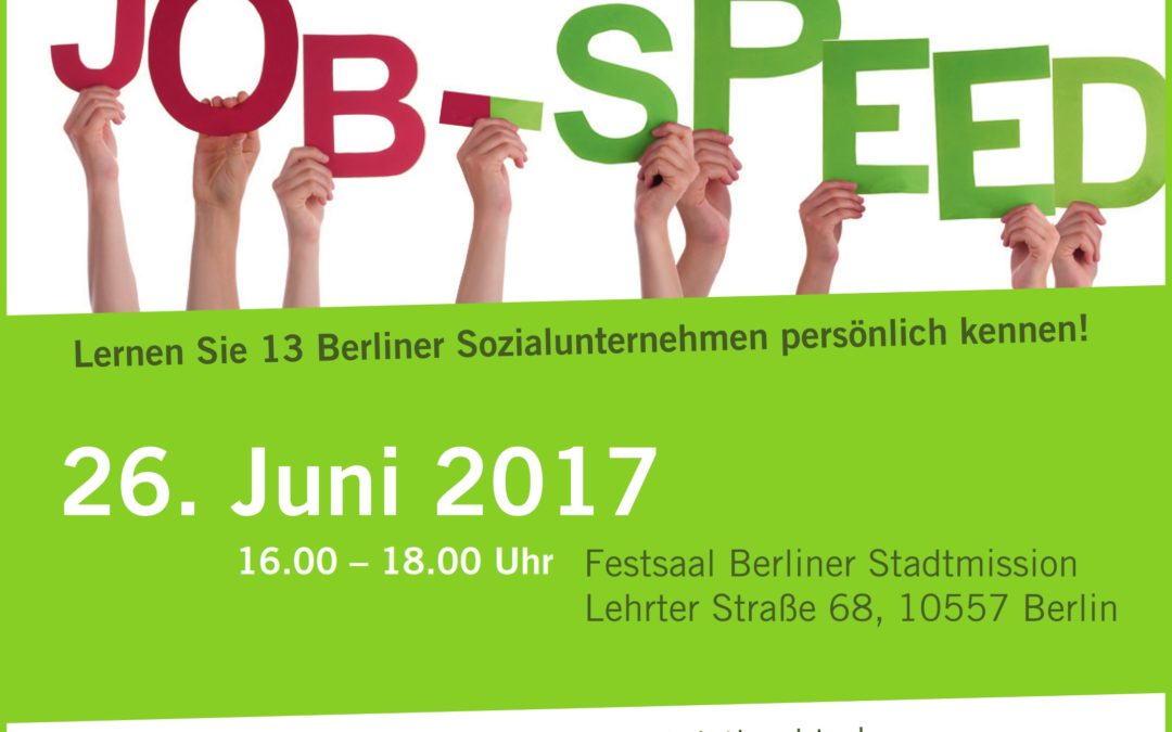 Speed-Dating in der Sozialbranche auch 2017