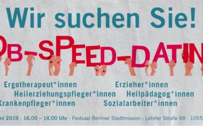 Job-Speed-Dating in der Sozialbranche auch 2019