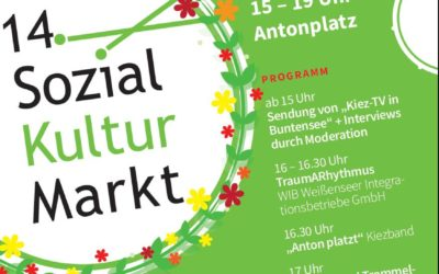 Der berliner STARThilfe e.V beim Sozial-Kultur-Markt auf dem Antonplatz in Weissensee